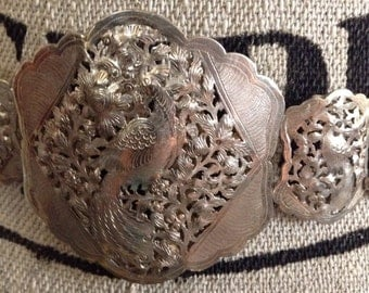 Peranakan Straits Chinese Silver Belt c 1915 South East Asian