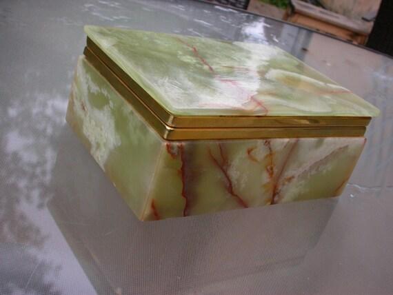 Franz sischer vintage gr n marmor box schmuck box gr n gold - Geheime deco ...