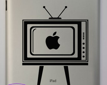 Retro TV iPad Decal