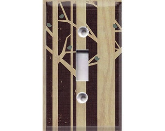 Nature Lover Collection - Birdies and Trees Light Switch Cover