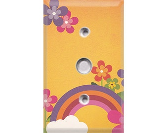 Rainbow & Flowers Cable Cover