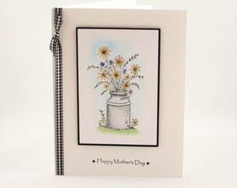 Happy Mother's Day Card, Handmade Mother's Day Card, Floral Mother's Day Card