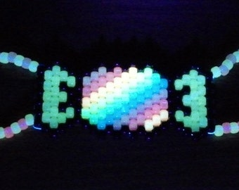 Glow in the Dark Candy Wrapper Cyber Mask