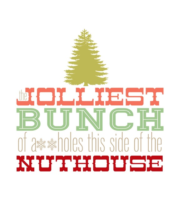 Christmas Vacation Quotes Jolliest Bunch Of: Christmas Vacation Christmas Print Multi