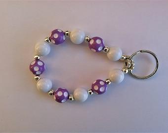 Polka Dot Keychain Bracelet