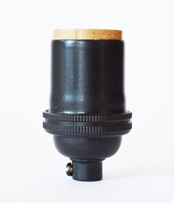 Keyless Electrical Lamp Socket Black Finish Light Socket