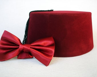 Doctor Who Fez And Bow Tie - Eleventh Doctor Matt Smith Fez - Doctor Who Bow Tie - 11. Doctor Time Lord Doctor Who Fez  Bow Ties Are Cool