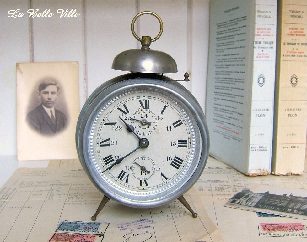 vintage french clock antique alarm clock from france