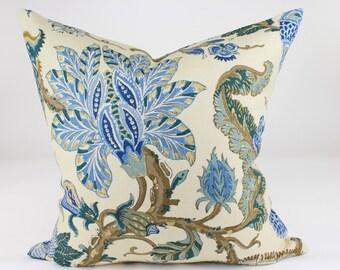 """Schumacher CHALFONT Pillow Cover in Porcelain Blue, Accent Pillow, Toss Pillow, Throw Pillow, Decorative Pillow 18"""", 20"""", 22"""", 24"""", 26"""" sq."""