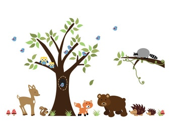 Woodlands Forest Wall Decal Fabric 611