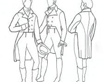 RH201- 1795-1820 Men's Tailcoat Sewing Pattern by Rocking Horse Farm