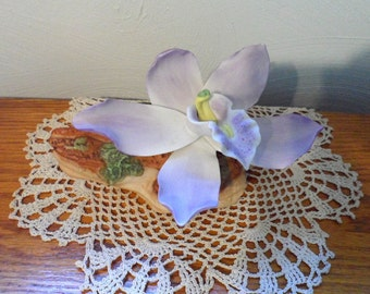Stunning Purple Burgues Orchid Figurine - Limited Edition