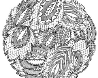 Lace design illustration 4, square wall art print home decoration