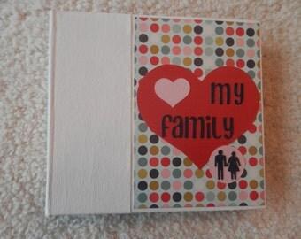 6x6 Family PreMade Scrapbook Photo Album