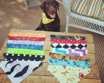 Dog Bandana, Pet Bandana, Dog Scarf, Cat Bandana, Pet Collar