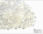 50 pcs Crystal AB Czech Glass Pinch Beads 5x3,5 mm (8531)
