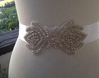 Wedding Bridal Belt Sash, Bridal Rhinestone Belt, Wedding Crystal Belt, Wedding sash , Bridal Sash