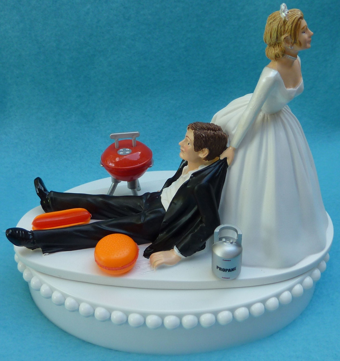 chef groom wedding cake topper wedding cake topper bbq grill barbecue fan themed w bridal 12632