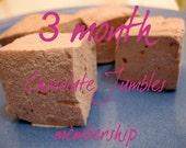 Chocolate Jumbles Club - 3 month membership - 1 dozen fair trade Gourmet homemade marshmallows