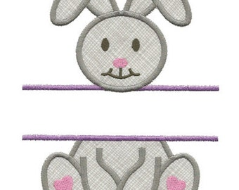 Split Bunny Applique