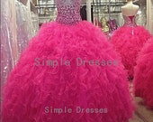 Ball gown Sweetheart Sleeveless Floor-length Organza Prom Dresses With Beading Without Petticoat