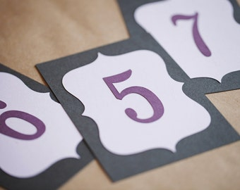 4x6 Table Numbers for weddings, baby shower or party - Choose your Colors & Quanitity