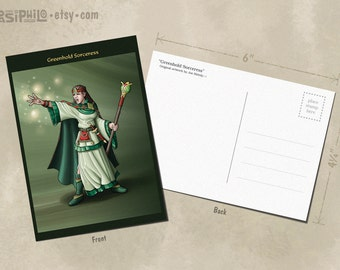 Greenhold Sorceress Postcard