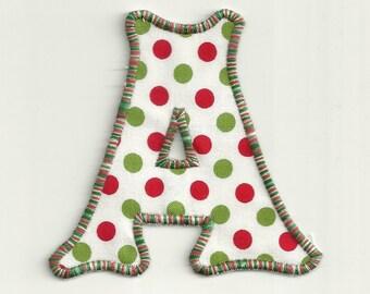 """Christmas Polka Dot Letter! 4"""" any letter Custom Made!"""
