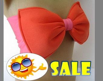 Bow Bandeau-Spandex Bandeau -Swimsuit -Swimwear-Bikini top-bikini