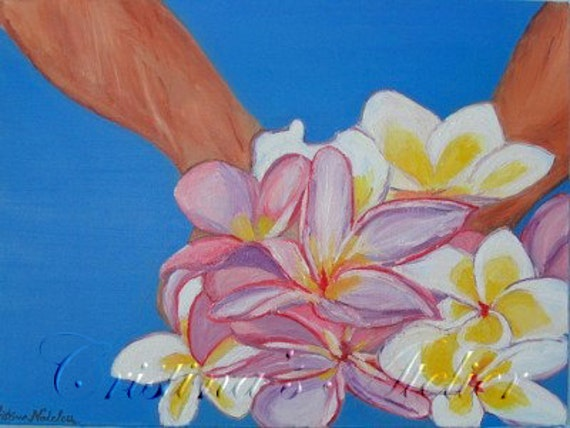 Close your eyes- Flowers original oil painting canvas- Plumeria painting -Vivid paintings- Wall home decor- Canvas art- Floral painting gift