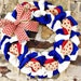 Patriotic burlap wreath- 4th of July Wreath-Fourth of July wreath- red white and blue wreath-Summer Wreath