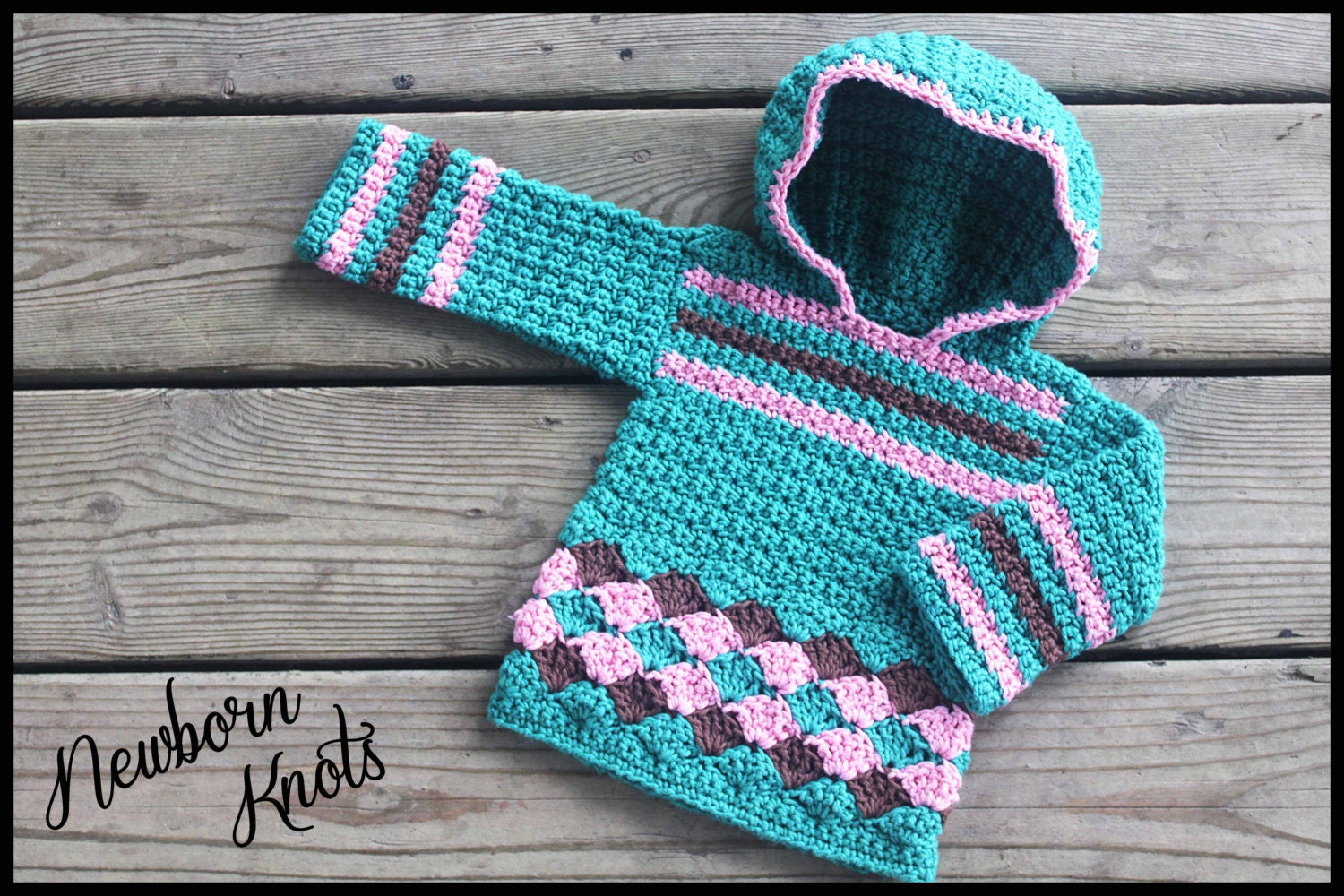 Crochet Baby Hooded Sweater Pattern Free : CROCHET PATTERN For Baby Boy or Girls Pullover Hooded Sweater.