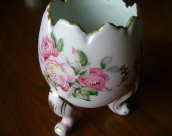 Vintage Vase  Rose 1960s Handpainted Roses Awesome