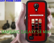 Samsung Galaxy S4 MINI Rubber Case, London Phone Booth, funny Samsung Galaxy