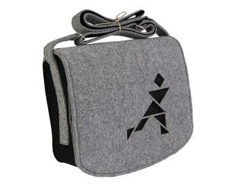 Felt Laptop bag 15 inch with pocket,shoulder bag, Macbook Pro 15 in, Custom size Laptop bag, sleeve, case