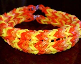 Sunny Day Moustache-Fishtail Bracelet