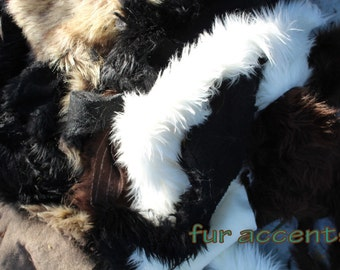 Faux Fur Remnant Pieces / Fur Fabric / Yardage / Shaggy Faux Fur Scraps / Sold by the POUND