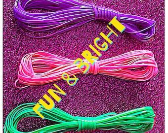 Bright & Beautiful Plastic Lacing Cord -Six Colors-