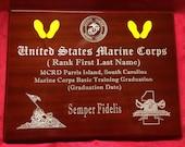 Marine Corp Basic Training Gift - Graduation Plaque (9 x 12)