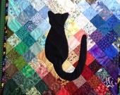 Cat Silhouette quilt and Dog Silhouette quilt