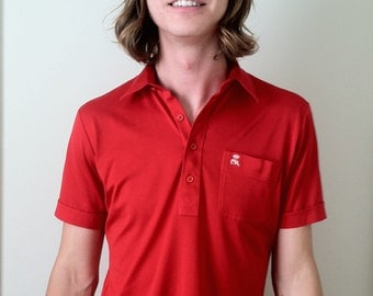 80s Countless Red Polo