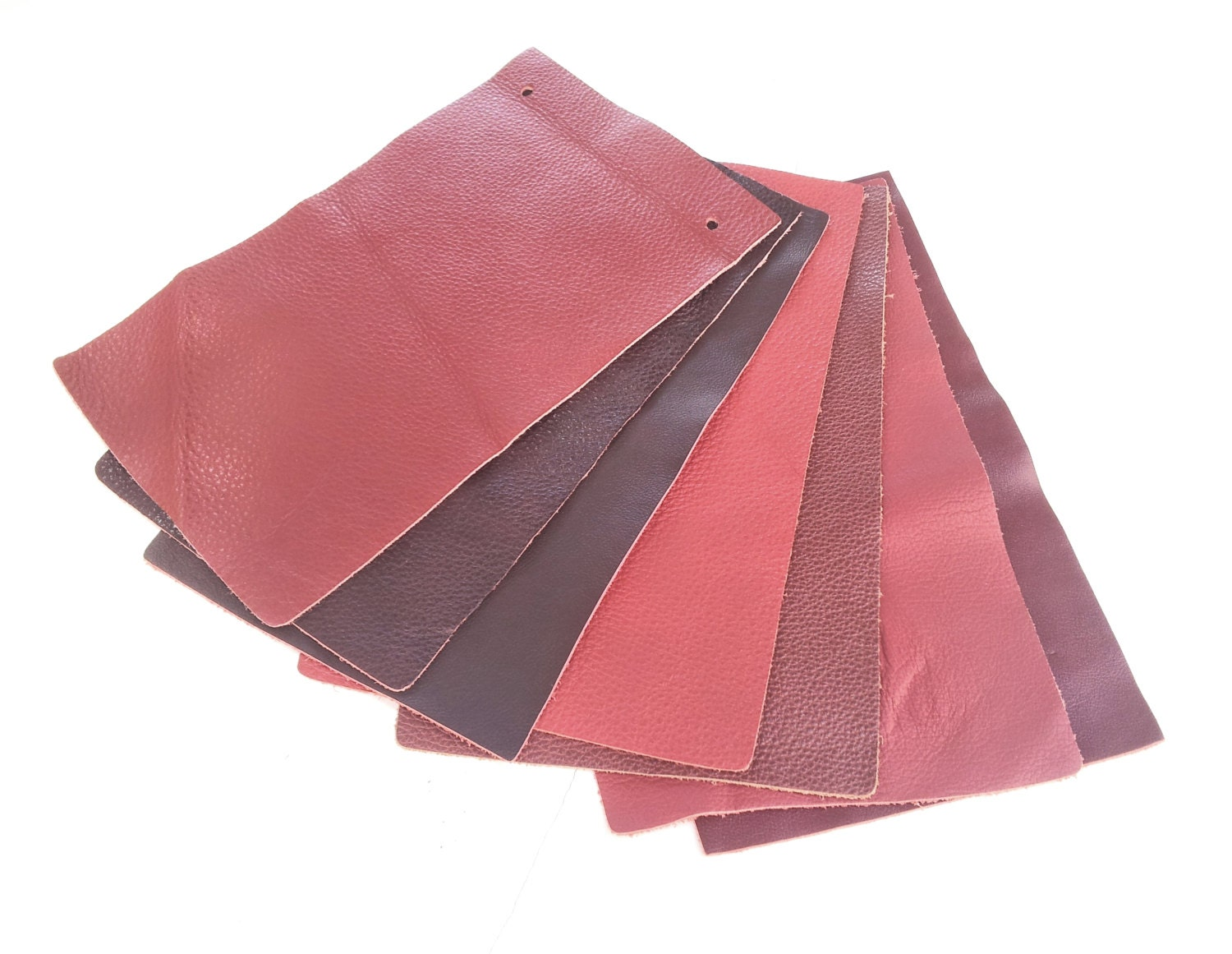 Red leather piece 9 9 x 5 9 craft supplies for for Leather sheets for crafting