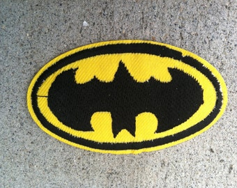 BatMan Inspired Embroidery Patch Applique