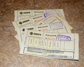 Vintage Spanish TrainTickets - Rairoad Tickets - C9