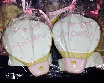 Custom Hot Air Balloon Cookies