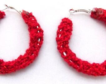 Hoop Knitted Earrings