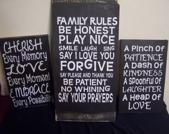 Adorable Wooden signs about family