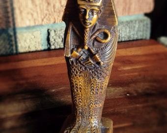 Vintage Tutankhamen Egyptian Mummy Statue King Tut