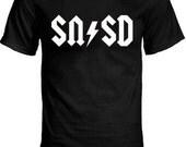 SNSD (Girls' Generation) vs. AC/DC logo Style K-Pop T-Shirt