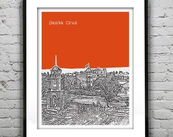 Santa Cruz Skyline Poster Art Print California CA